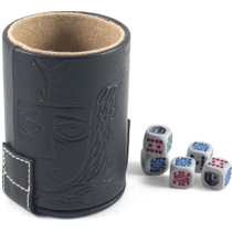 Black Vinyl Dice Cup Set