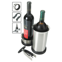 Oggi 7 Pc Wine Bottle Corckscrew Set W/ Counter Top Stand