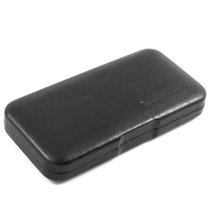 Black Leather Travel Humidor 4 Cigar Capacity