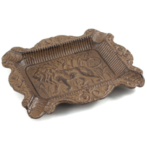 Cast Iron Brown Ashtray with Royalty Lion Design
