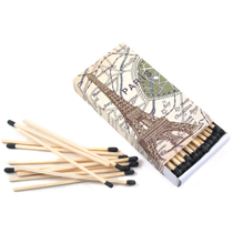 Homart Long Decorative Matches in Paris Map Box
