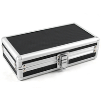 Craftsman's Bench Aluminum and Black Cigar Travel Humidor 4 Count