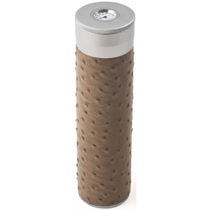 Ostrich Brown Leather 3 Cigar Humidor Tube HumiTube