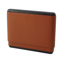 Andre Garcia Classic Brown Italian Leather Cedar-Lined Telescopic 10 Finger Cigar Case