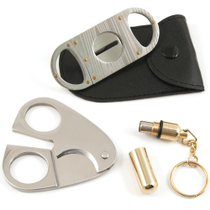 Cigar Accessory Gift Set - Includes Punch, Scissors, and Cutter