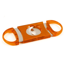 Orange Acrylic & Stainless Guillotine Cigar Cutter