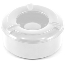 White Plastic Wind Proof Cigarette Ashtray