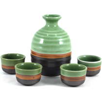 Sake 5 Piece Ceramic Wine Set