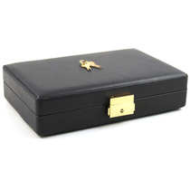 Leather Travel Cigar Humidor NEW with Accessories