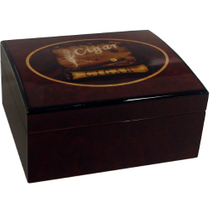 Havana Cuba Map High Lacquer Cigar Humidor Cedar Lined