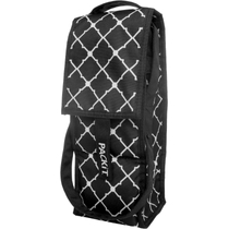 PackIt Black and White Viceroy Single Bottle Freezable Wine Bag