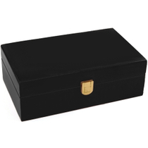 Don Salvatore Black Desk / Travel Cigar Humidor 12 CT
