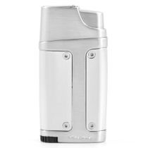Xikar Element Double Torch Lighter with Punch in Chrome Silver