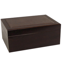Classy Leather Top Cherry Cigar Humidor 100ct