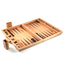 Gatogi Backgammon Set with Natural Wood Briefcase