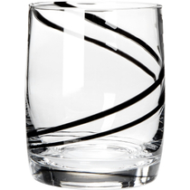Luigi Bormioli Black Swirl Double Old-Fashioned Tumbler, Set of 4