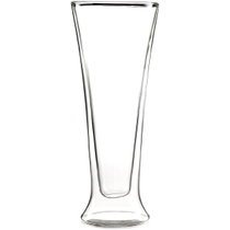 Luigi Bormioli Duos Double-Walled Pilsner Glass, Set of 2