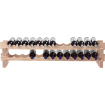 Wine Enthusiast Natural Wood Stackable 26 Bottle Wine Rack Kit