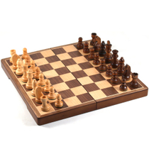 Gatogi Indian Folding Dark Wood Chess Set
