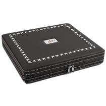 NIBO Black Leather 20 Count Travel Cigar Humidor
