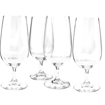 Nachtmann Vivendi Non-Leaded Crystal 15.15 Ounce Stemmed Pilsner Glass, Set of 4