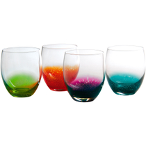 Artland Fizzy Assorted Color Double Old Fashioned Bar Glass, Set of 4