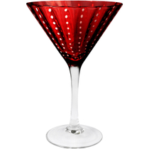 Artland Cambria Ruby Martini Bar Glass, 8 Ounce