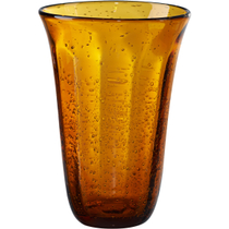 Artland Savannah Amber Bubble Glass Highball Tumbler, 18 Ounce