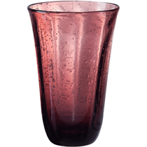 Artland Savannah Purple Bubble Glass Highball Tumbler, 18 Ounce