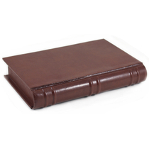 Dolce Sogni Italian Brown Leather Book Travel Humidor and Humidifier Set