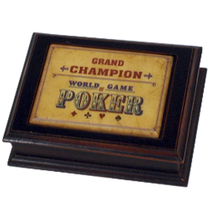 Cherry Grand Champion Poker Two Deck Card Storage Box