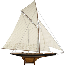 Authentic Models America's Cup Columbia 1901 Yacht, Large