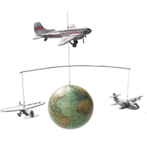Authentic Models Around the World Mobile with 1920's Vintage Airplanes