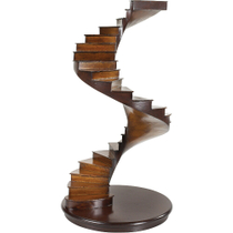 Authentic Models Spiral Stairs Architectural Model in Cherry and Birch Wood