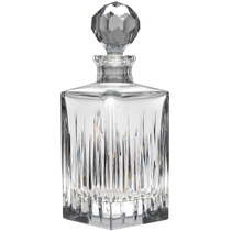Reed and Barton Soho Leaded Crystal Square Alcohol Decanter