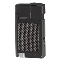 Xikar Forte Carbon Fiber Black Single Jet Lighter