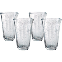 Artland Savannah Clear Bubble Glass Highball Tumbler, Set of 4
