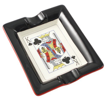 Casino Royale King of Clubs Ceramic Cigar Ash Tray