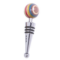 Norpro Rainbow Wood Wine Bottle Stopper