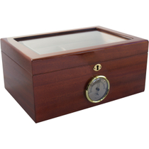 Savoy by Ashton Large Glass Top Mahogany Humidor, 100 Cigar Capacity