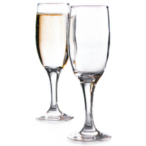 Basic Glass Champagne Flutes, Set of 4