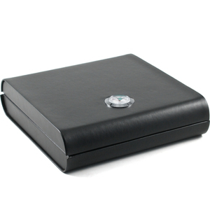 Kingstar Black Leather 7 Cigar Travel Humidor