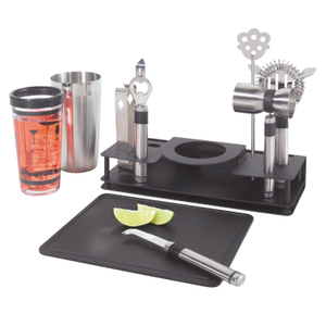 Oggi Stainless Steel Ten Piece Bar Caddy Set