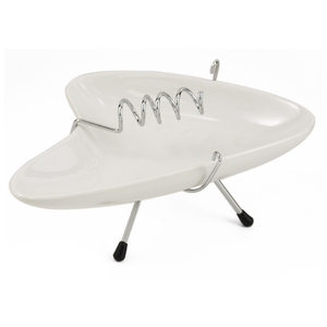 Oggi White Retro 50's Wired Ashtray