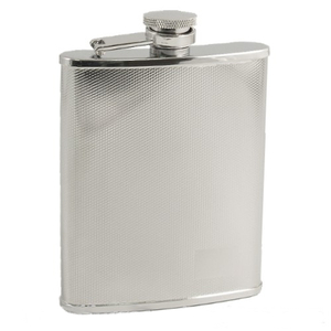 Diamond Stainless Steel Flask, 6 Ounce