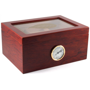 Tobacco Leaf Window Top Huge Cherry Cigar Humidor