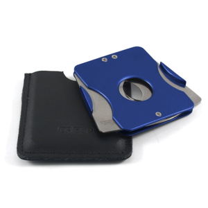 Credo Synchro-Nice Blue Square Cigar Cutter