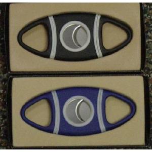 Black Rubber Grip Double Blade Cigar Cutter