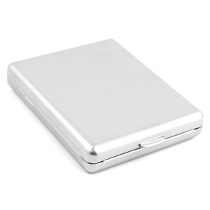 Smooth Stainless Steel Cigarette Case Holder 100s