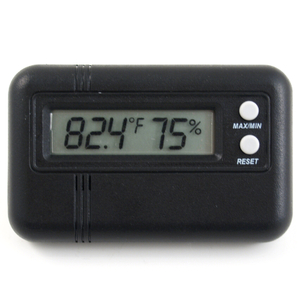 Compact Black Digital Hygrometer for Cigar Humidor